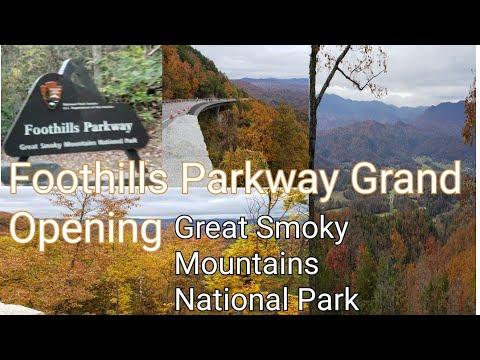 Foothills Parkway Opening Day Missing Link Walk Thru