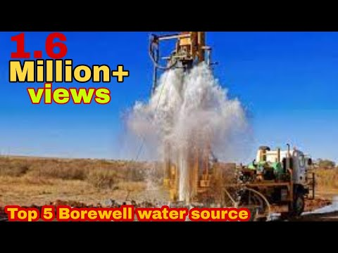 borewell drilling top 5 water high speed pressure amazing video chhattishgard hd ka father