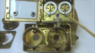 Demo of Sargent & Greenleaf model 4A time lock on Hall Premier combination lock