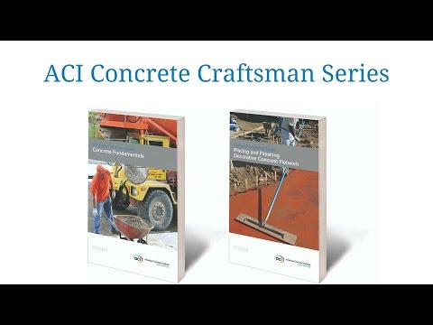 ACI's Concrete Craftsman Series