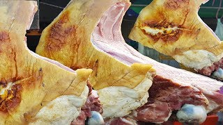 Awesome Buying Street Grilled Beef - Yummy Cambodian Street Food