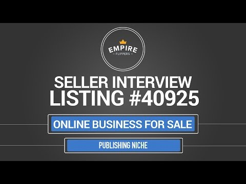 Online Business For Sale - $5.9k/month in the Publishing Niche