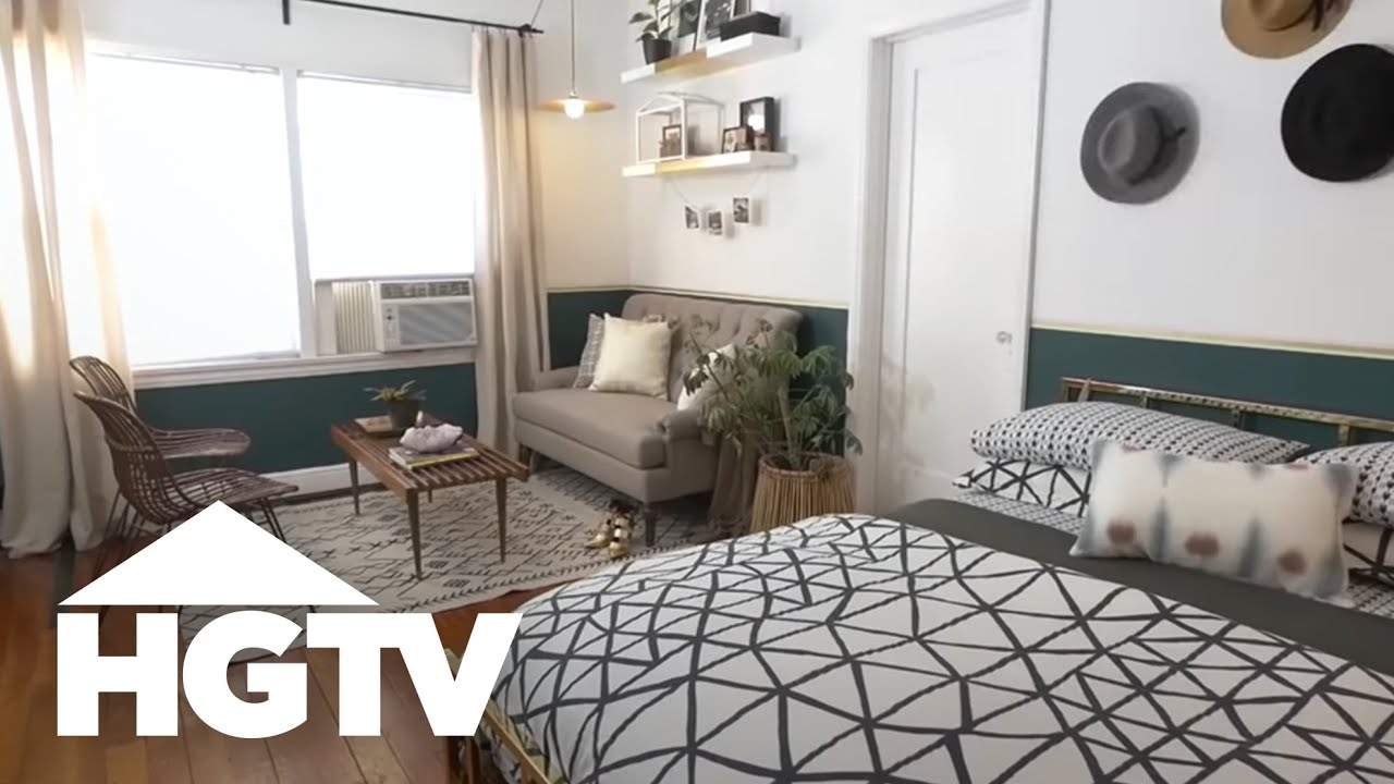 Studio Appartement Stylish Studio Apartment Makeover Hgtv
