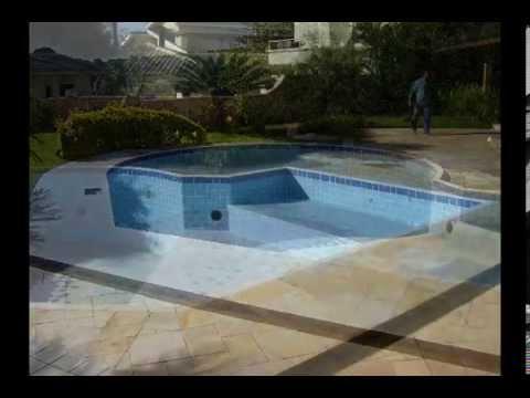 Construindo uma piscina de concreto armado campestre - Cemento para piscinas ...