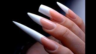 5 форм Наращивание ногтей Френч акрил. ТОП удивительные дизайны ногтей