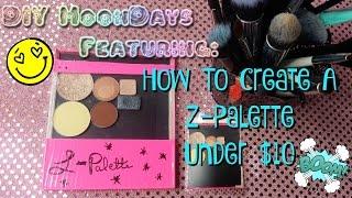 كيفية: إنشاء Z-لوحة تحت 10 دولار   DIY Makeup خداع
