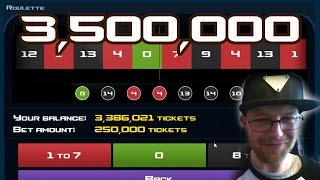 Case Clicker | First Huge Roulette Win | 3,500,000 Tickets
