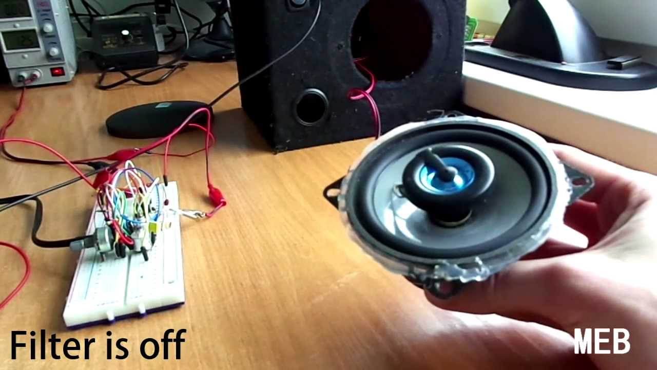 Testing Active Low  Pass Filter IC TL062  YouTube