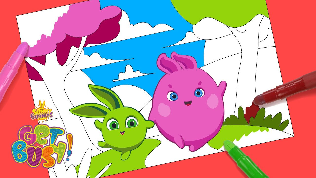 SUNNY BUNNIES - How to Color a Picture  GET BUSY COMPILATION  Cartoons  for Children