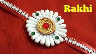Raksha Bandhan Special | Cotton Bud Rakhi | Cotton Swab Rakhi | Handmade Rakhi
