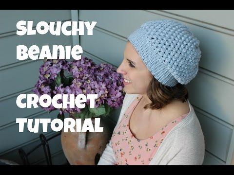 Puff Ch Slouchy Beanie Crochet Tutorial