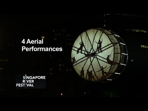 Singapore River Festival 2015 - 4 Aerial Performances
