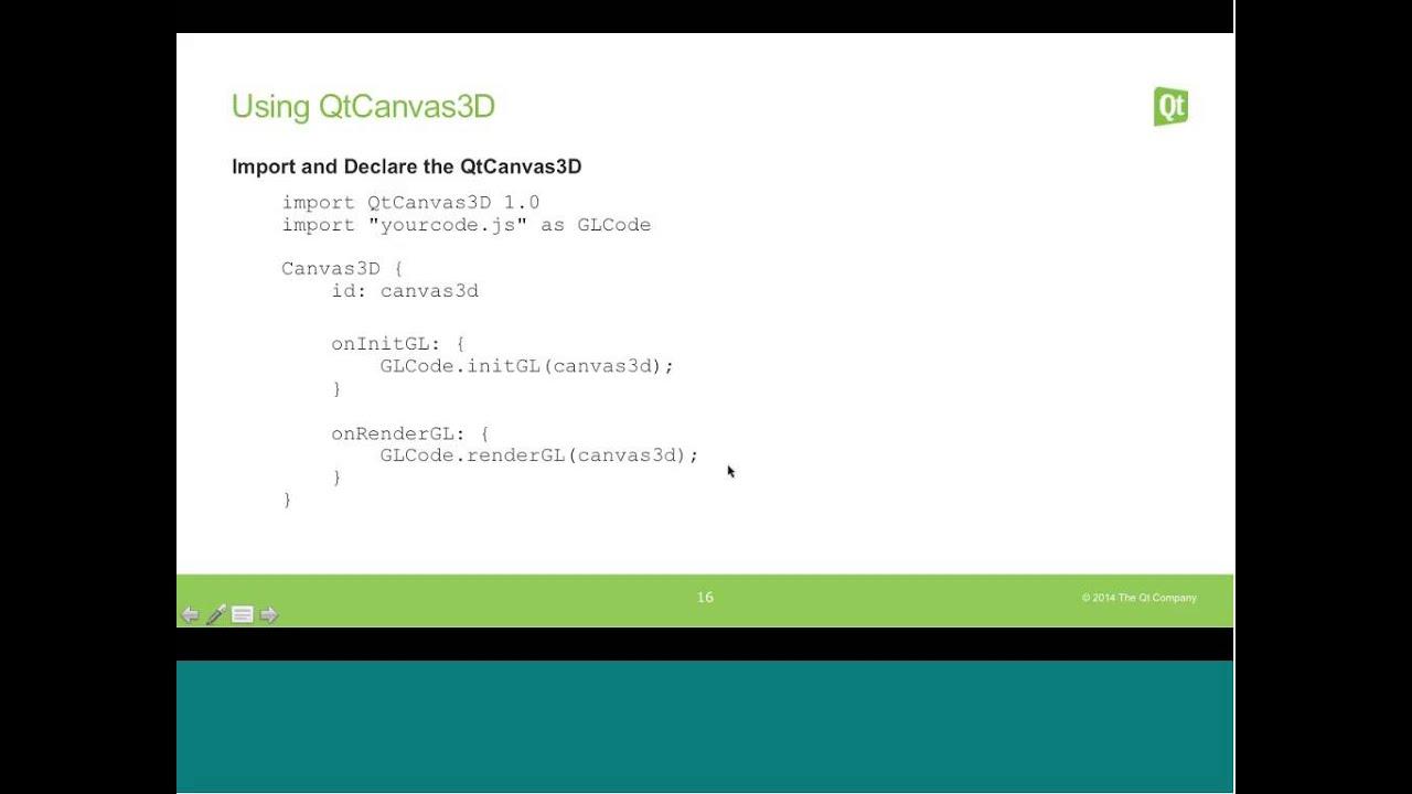 Enabling Direct WebGL in Qt Quick 2 | Qt Virtual Bootcamp 2014