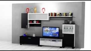 como hacer un mueble de salon moderno