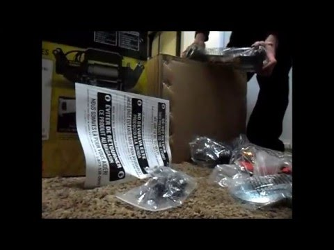 Unboxing champion 12000 lb winch