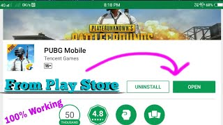 How to download pubg Mobile in Play Store (English Version)