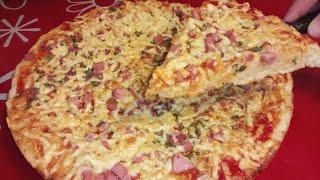Рецепт Классической Пиццы в духовке Простой Рецепт приготовления на дрожжевом тесте