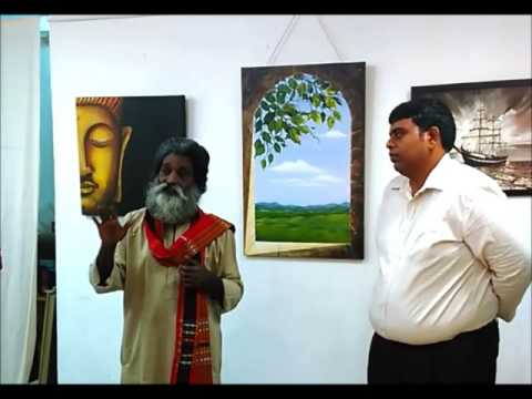 Eminent Artist Veerasanthanam at Chola Art Gallery, Chennai