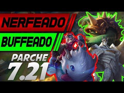 PARCHE 7.21 SUPER BUFF GALIO! NERF SEJUANI! Y MAS! | CAMBIOS BUFF & NERF PBE | Statik Gamer