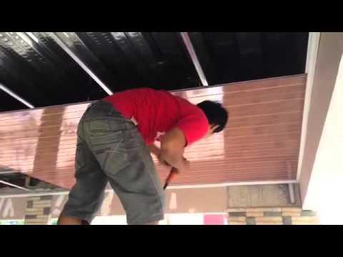 baja ringan plafon cara pemasangan pvc - youtube
