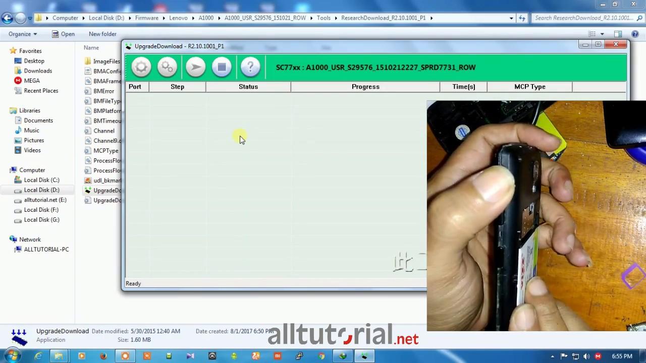 Firmware dan Cara Flash Lenovo A1000