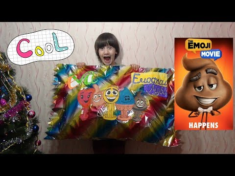 The EMOJI MOVIE Gigantic package with TOYS. Гигантский пакет с игрушками ЭМОДЖИ от ЕВА.Обзор