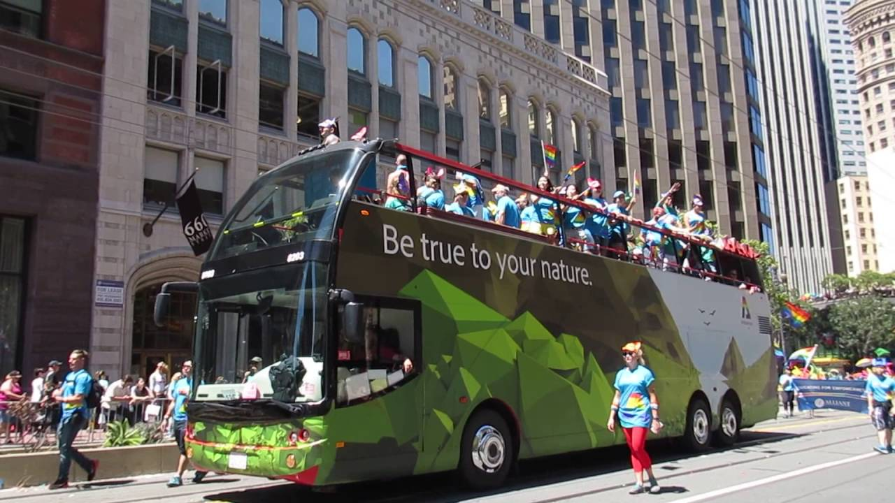 san francisco pride parade 2016 adobe be true to your nature adobeproud adobe tank san francisco ca