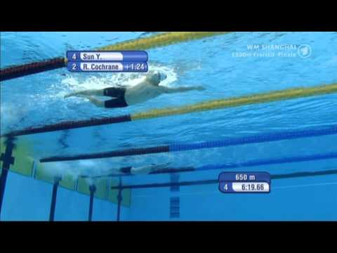 Sun Yang Front Crawl Technique (Under Water & Slow Motion)