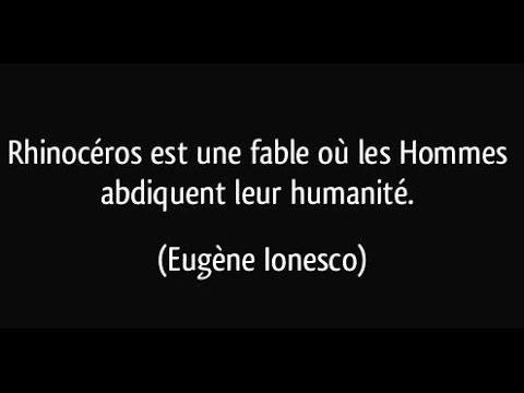 Rhinoceros De Ionesco 1 4 Youtube