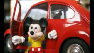 vw and mickey mouse toys