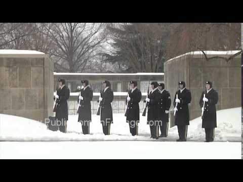 Taps And 21 Gun Salute At Arlington National Cemetery Archival Stock Footage