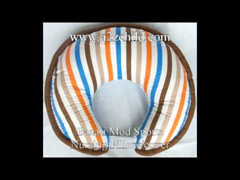 Bacati Mod Sports Blue Crib Bed Set - A2zchild.com.avi