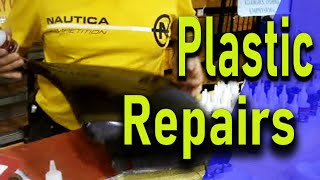 BEST GLUE  FOR PLASTIC. Repair polypropylene plastic bumper with Black Bull german Adhesive