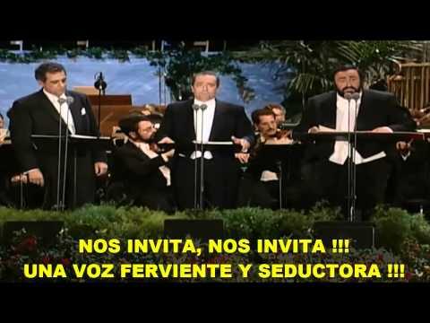 Los 3 Tenores- La Traviata (Subtitulada Español) HD -Libiamo Ne' Lieti Calici (Los Ángeles: 1994)
