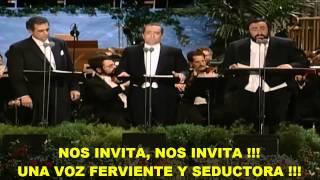 Los 3 Tenores- La Traviata (Subtitulada Español) HD -Libiamo Ne