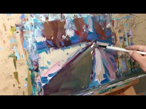 Modern Impressionist Oil Painting Demo Winter Landscape – Art Session – Artist JOSE TRUJILLO
