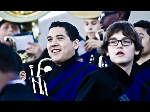 Crowley High School Marching Band filmed with Canon 7D 70-300mm lens / FCPX