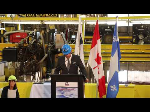 Steel Cutting Ceremony - Resolve-Class Auxiliary Oiler Replenishment Ship