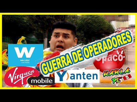 GUERRA DE OPERADORES ( MOVISTAR ) ( CLARO ) (VIRGIN) ( ENTEL )- EL PISO ES LAVA PERÚ- | HABLA PE