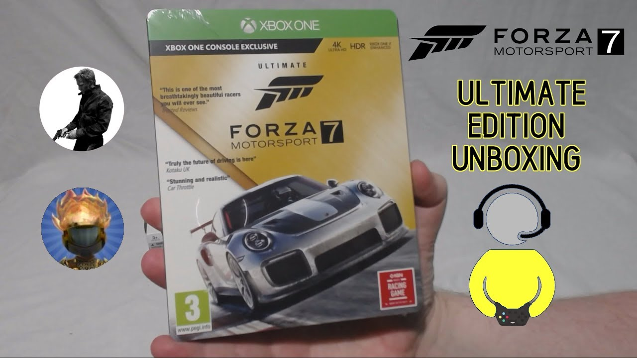 forza motorsport 7 ultimate edition unboxing youtube. Black Bedroom Furniture Sets. Home Design Ideas