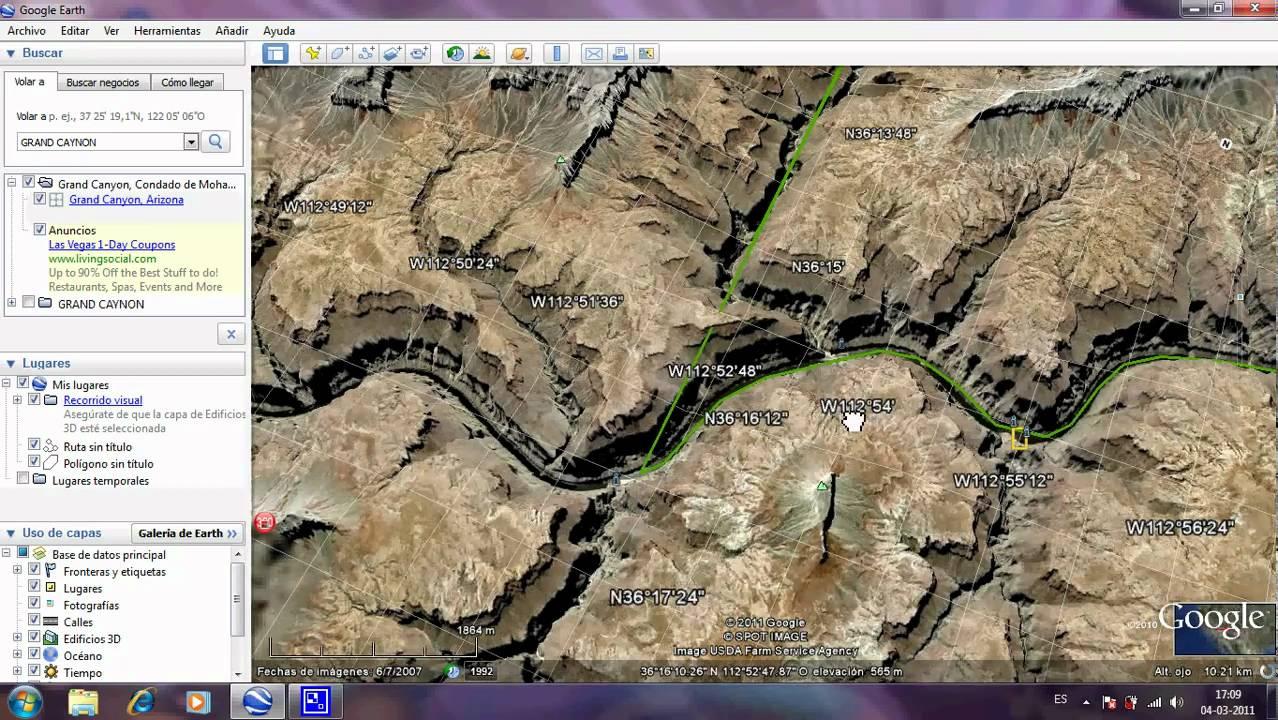 Google earth 3D Grand Canyonavi YouTube