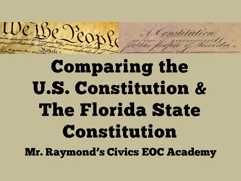 Comparing Constitutions: Florida's State Constitution vs the U.S. Constitution
