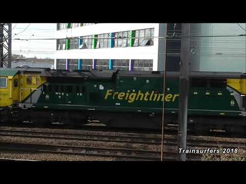 FL Class 70 No. 70008 on 4M95 Southampton M.C.T - Trafford Park @ Ardwick Jn on 29.3.18 - HD