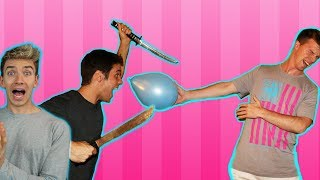 EXTREME BALLOON POPPING! *dangerous*