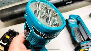 This is an Awesome Bright Flashlight For Under $30   Makita 18V Knockoff That Looks Promising