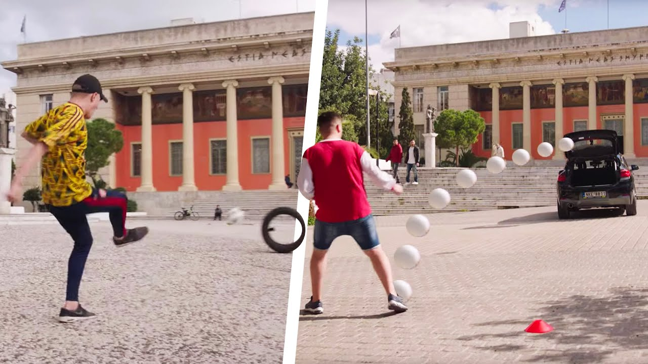 Arsenal fans take on three EPIC football challenges! ⚽