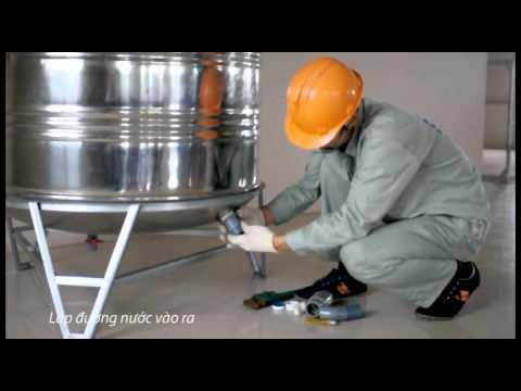 Hướng dẫn lắp đặt bồn nước INOX Tân Á