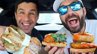 ITALIAN GOURMET SANDWICH MUKBANG with JOSH PECK!! (My cutest friend)