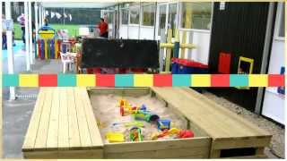Outdoor school playground equipment sand and water
