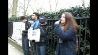 Protest against deportation of Iranian activist outside Japanese embassy London